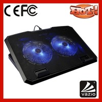 iDock B02 15 inch LED light USB double fans laptop cooling pad with adjustable stand