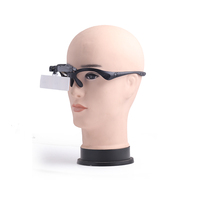 BIJIA NO.9892B Glasses Headband Interchangeable Magnifying Glass with LED Lights