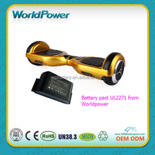 Worldpower Passed UL2271 36V 4.4Ah self balance scooter lithium battery