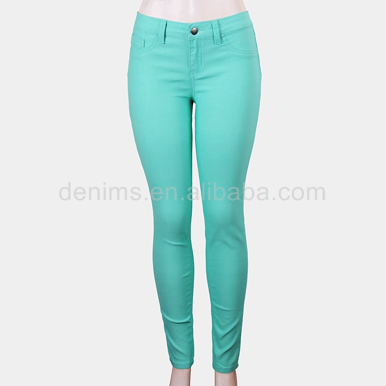 80506-1-C1 more colorfull ladies' middle waist trousers pants