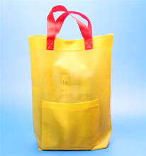 PVC/EVA plastics garment bag with small pouch
