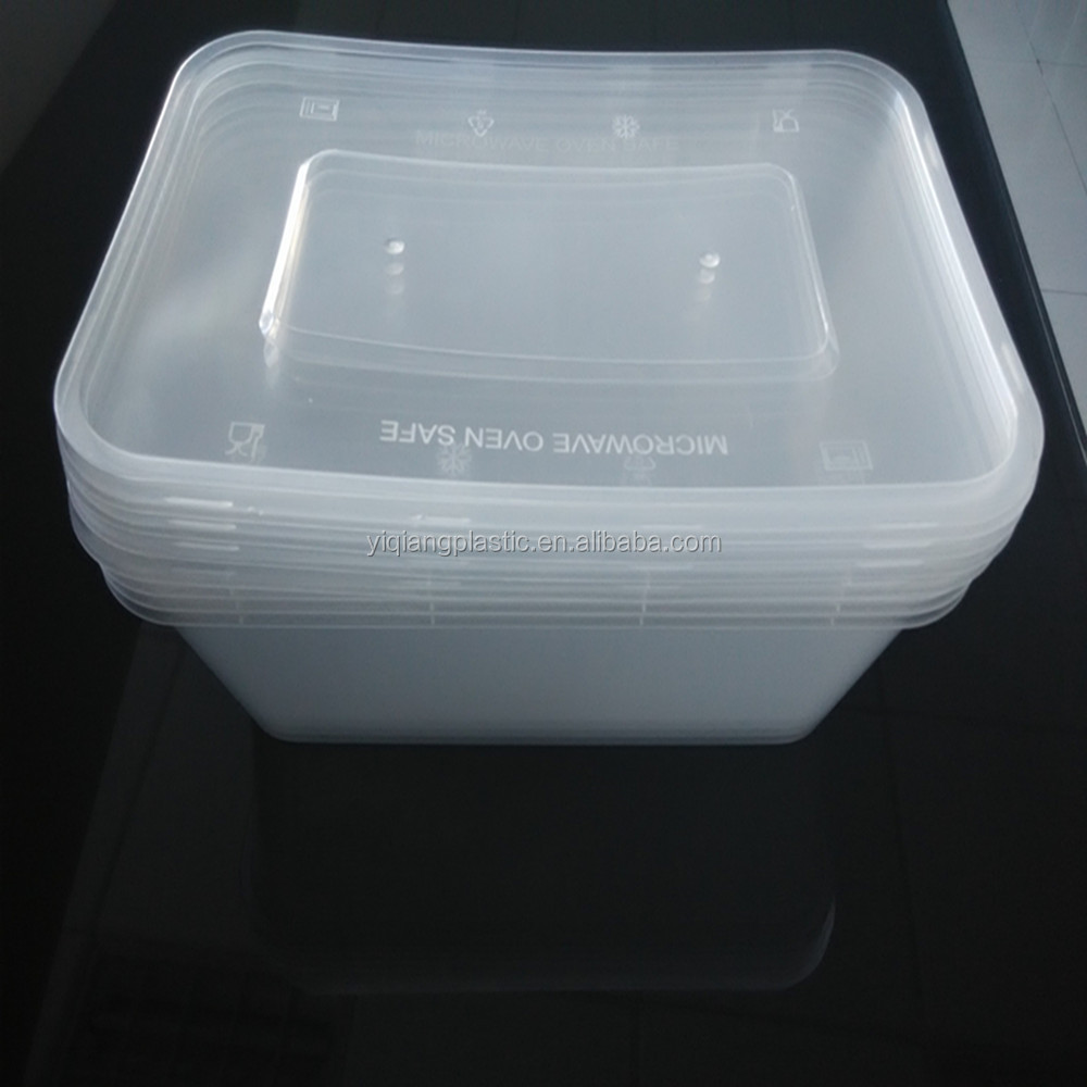 Microwave Safe Plastic Takeaway Food Packaging Lunch Box Container