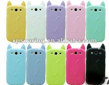 for Samsung Galaxy S3 I9300 silicon cat case cover