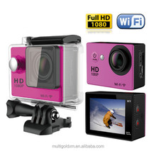 "Hot Sale HD 1080P sport DV action camera 2.0"" LCD 140 Degree wide angle 30M Waterproof mini digital"