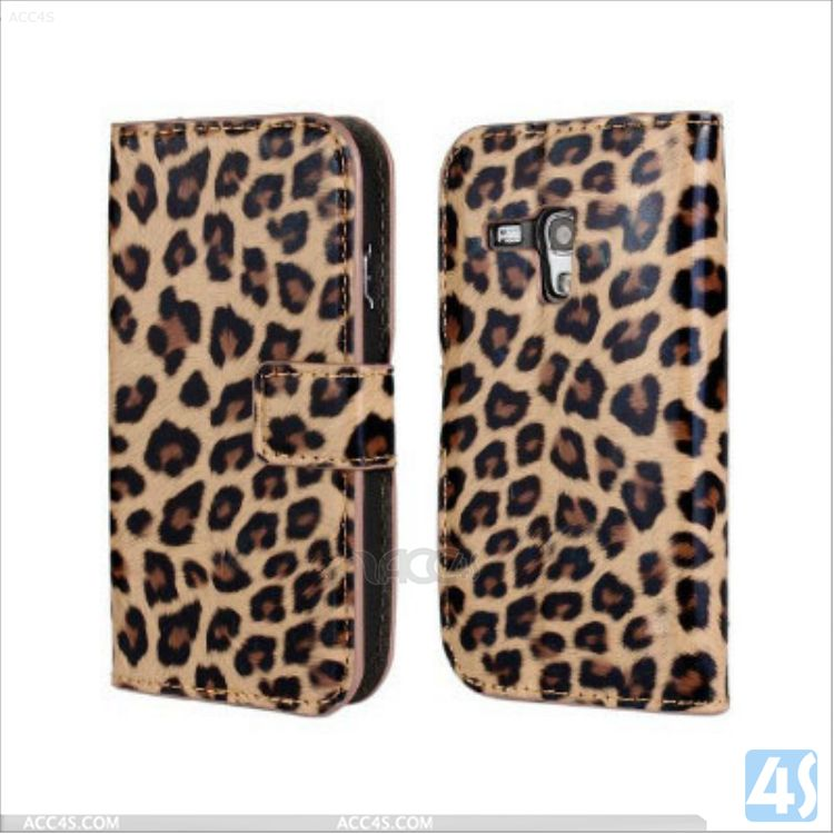 Leopard pattern flip case for samsung galaxy s3 mini i8190 P-SAMI8190SPCA002
