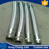 Spiral welding type corrugated metal hose with BSP NPT male/female niple