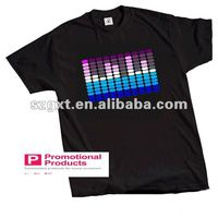Free Shipping Wholesale 2013 Factory-produced EL sound-active t-shirts