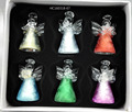 Handblown colored little crystal glass angel wedding gifts