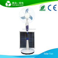 Rechargeable inside lead-acid battery 16inch 18v15w solar fan for home,camping,mountain,RV with 12 pcs of LED lights