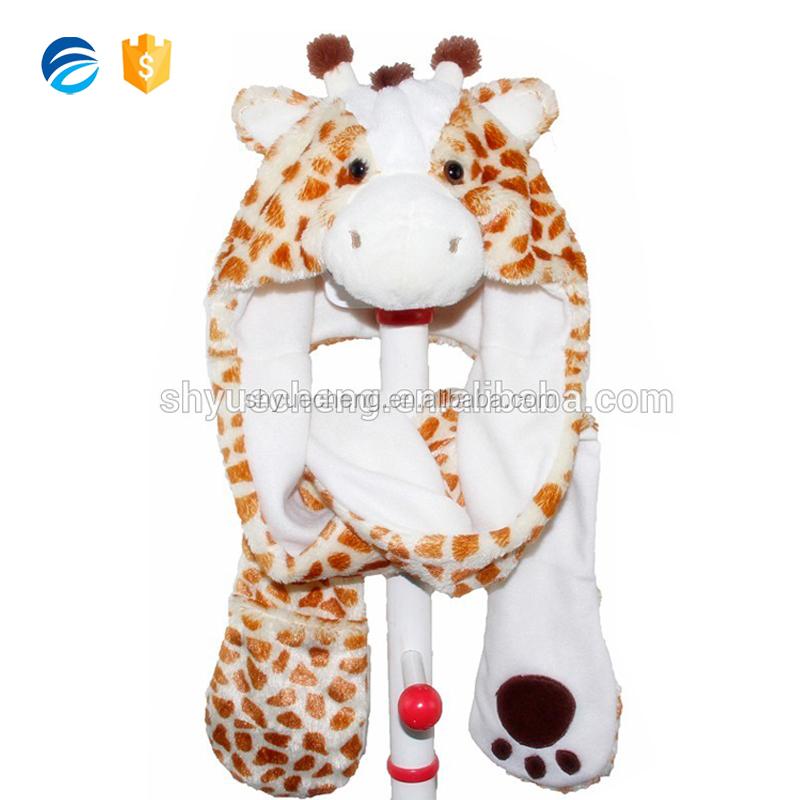 Custom Packing Furry Winter Animal Hats and Scarves for Woman