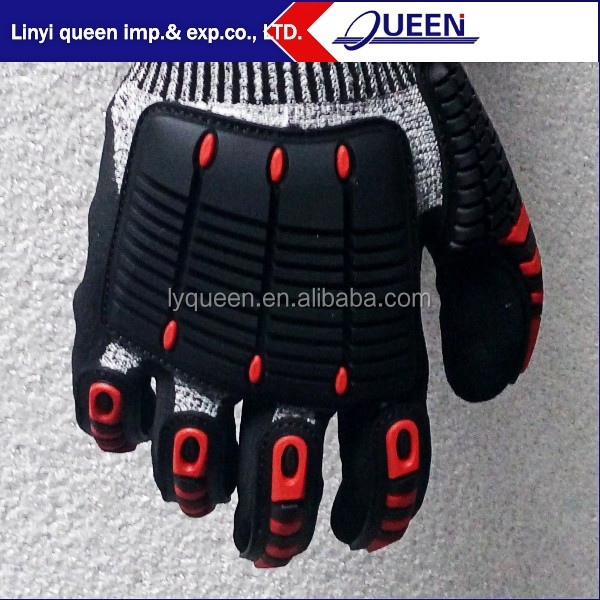 High TPR impact protective oil and gas safety glove