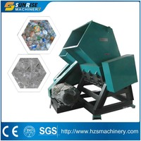 High speed waste PET plastic bottle crusher for plastic recycling line