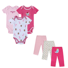 china factory organic cotton new born baby clothes clothing gift set girls with 3pcs baby pants