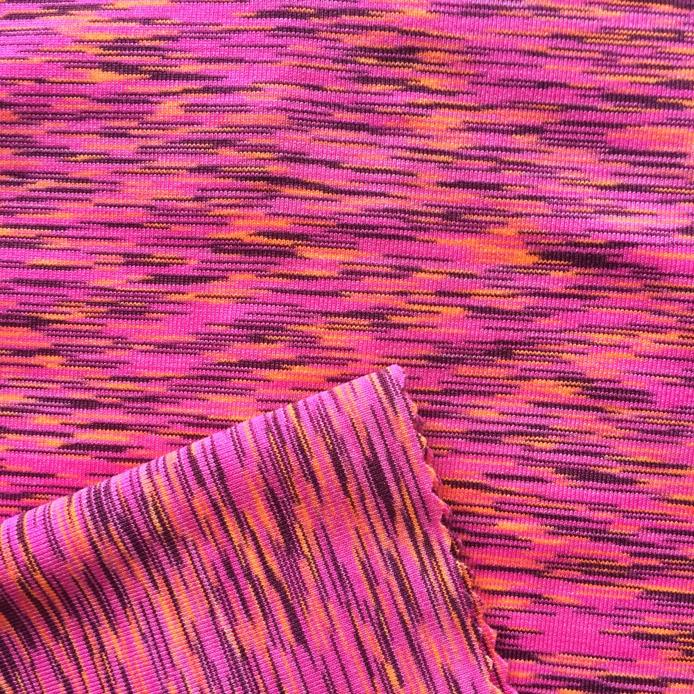 Space dyed knitted fabric polyester spandex yoga buy for Space pants fabric