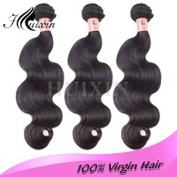 alibaba 100% PURE 5a Virgin Indian temple hair,ends unprocessed body wave virgin brazilian hair
