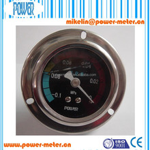 "2"" 50 mm water pressure gauge stainless steel case back connection oil filled with flange vacuum manometer"