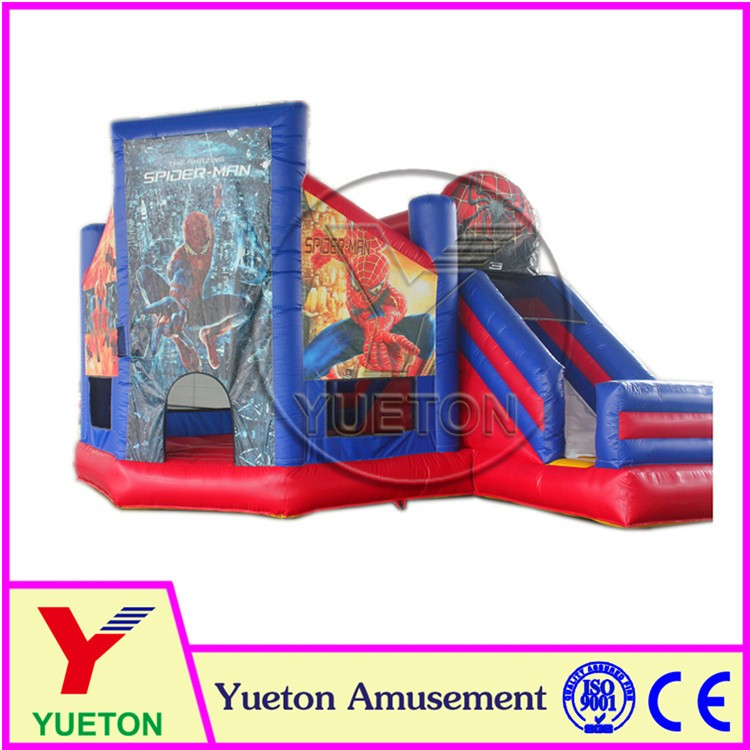 Zhengzhou Yueton Inflatable Amusement Spiderman Bounce House For Jumping