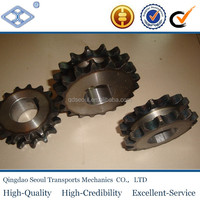 "OEM/OBM standard steel double single high frequency hardening roller chain 5/8"" 17T drive sprocket"