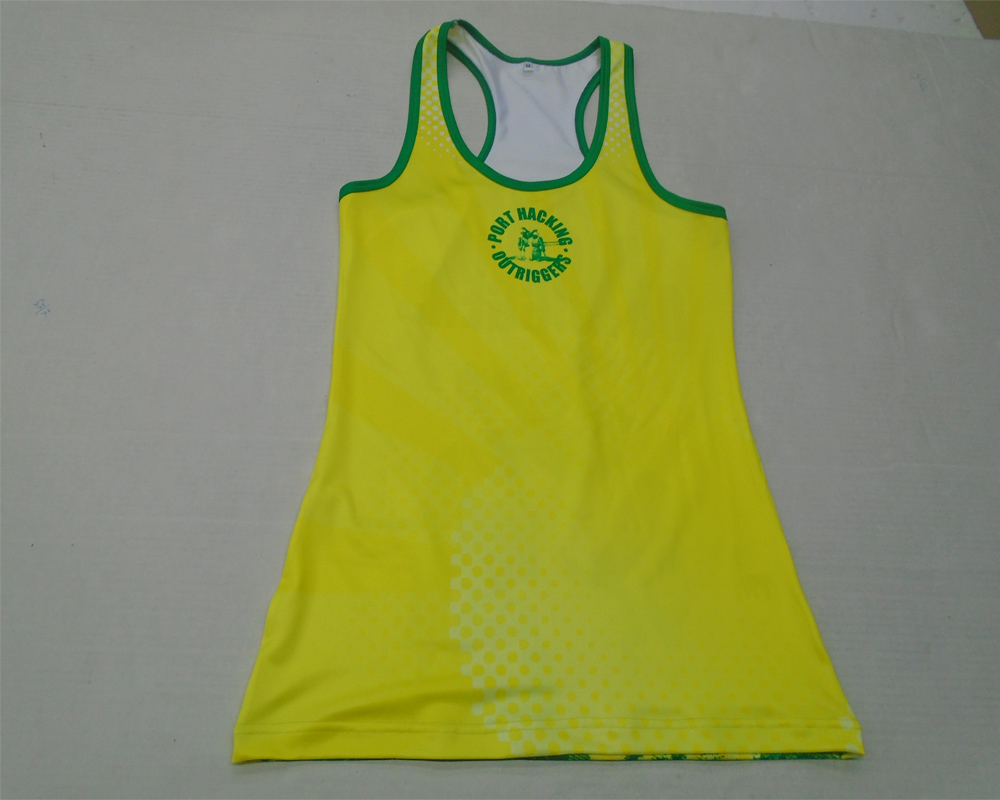 Hohe Qualität Custom Design Frauen Tops Sublimated Damen Gym Singlet