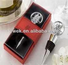 """Double Happiness"" Elegant Chrome Bottle Stopper in Asian-Themed Gift Box Wedding Favors In stocks"