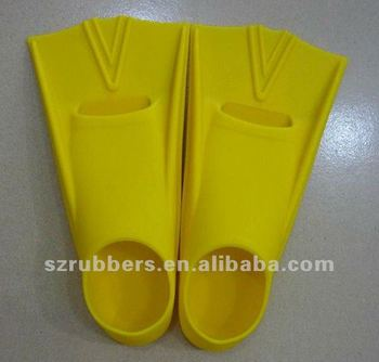 Fashionable Adult's Silicone Rubber Swim Fins