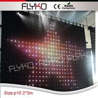 PC controller 2x3m P10 3in1 long performance life fireproof video curtain