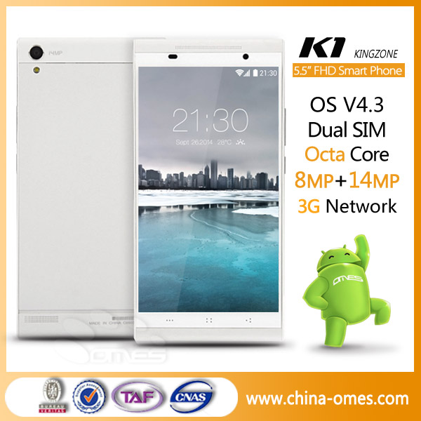 Android smartphone manufacturer octa-core 5.5 inch Kingzone <strong>K1</strong>