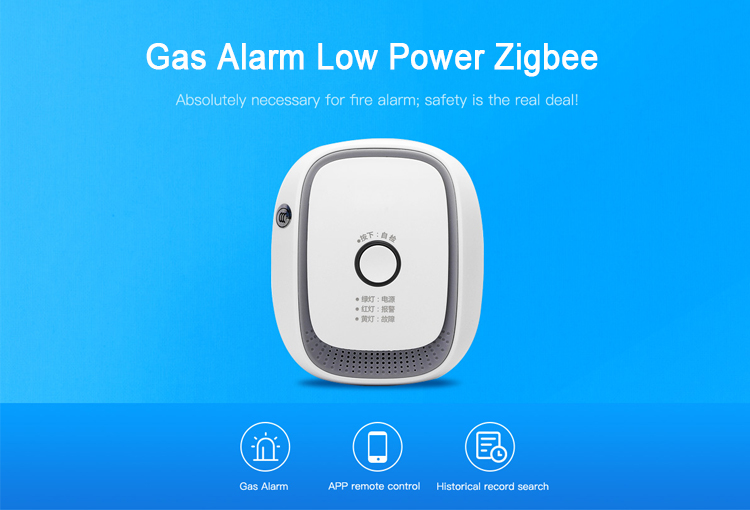 Home solution Phone App control gas alarm detector for indoor tool-free installation