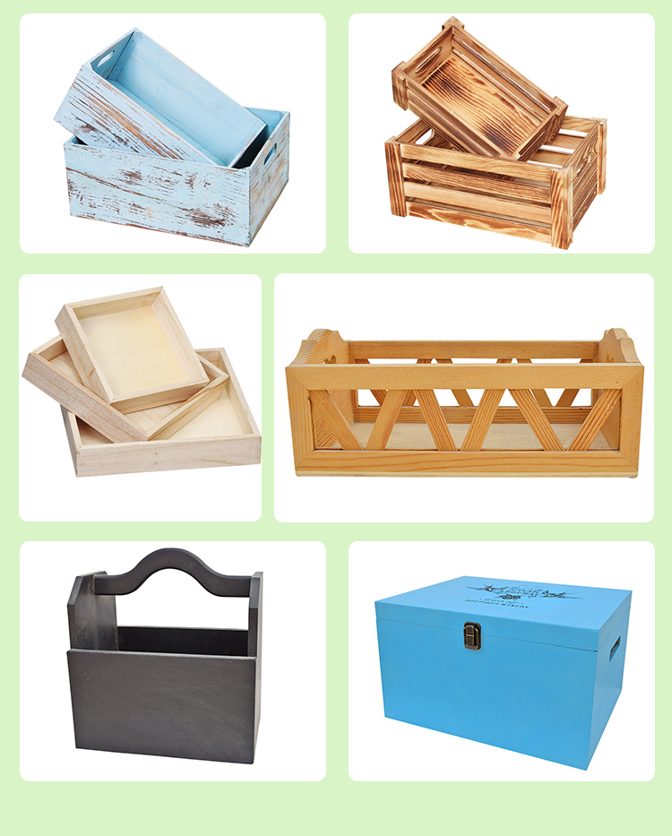 Wholesale new style decorative vintage wooden crates