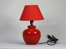 hand painted red ceramic table lamp wholesale