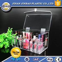 JINBAO customized color and clear top grade acrylic makeup organizer case