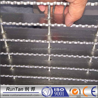 galvanzied or stainless serrated swage locked steel grating / heavy duty steel grating