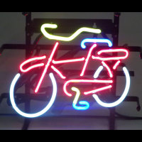 New Creation Attractive Colorful Any Fonts Support Bicycle Led Signage