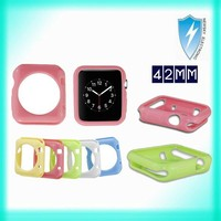 2015 New Ultra Thin Soft TPU Case Clear Protective Cover for Apple Watch 38mm 42mm