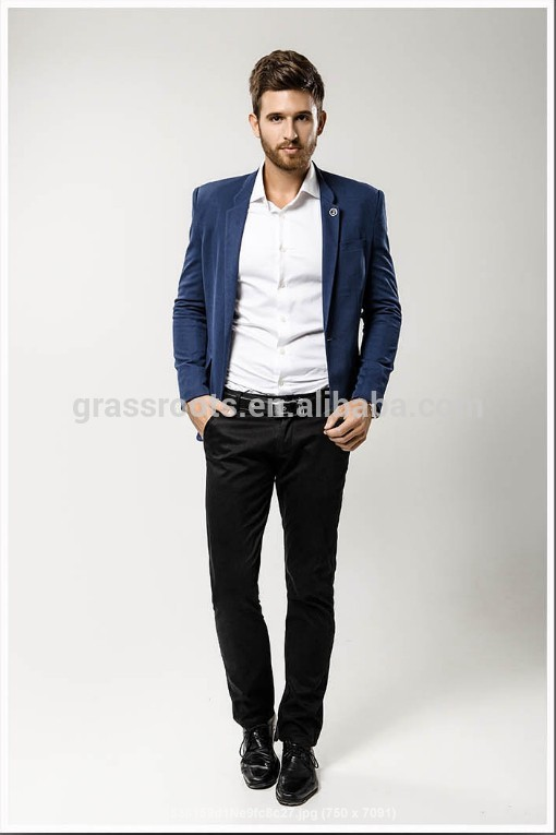 Navy Blue Casual Suit - Hardon Clothes