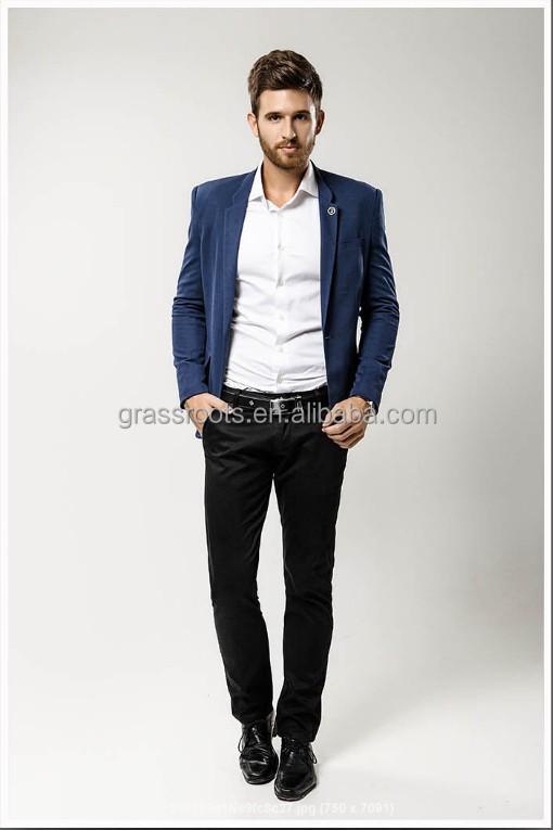Navy Blue Casual Suit - Hardon Clothes