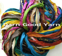 Reclaimed Sarn Silk Ribbon Yarn
