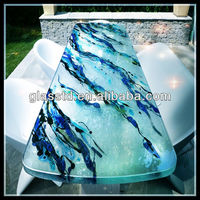 40mm colored glass table tops