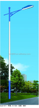 Hot dip galvanized tapered power steel outdoor electric street lighting 6m poles price