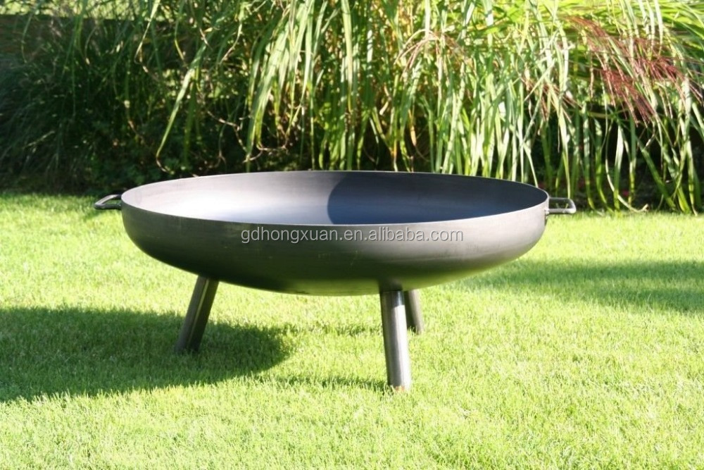Germany Garden Round Fire Pit Use Wood Burning With Cooking Grate BBQ Fire Bowl