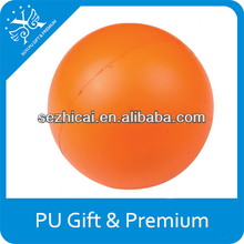 Advertisment product custom any logo,shape,color and size foam orange stress ball new