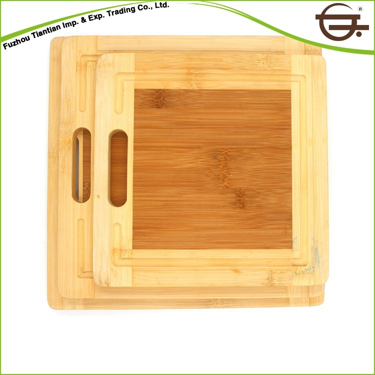 cheap wholesale square vegetable bamboo wood cutting board
