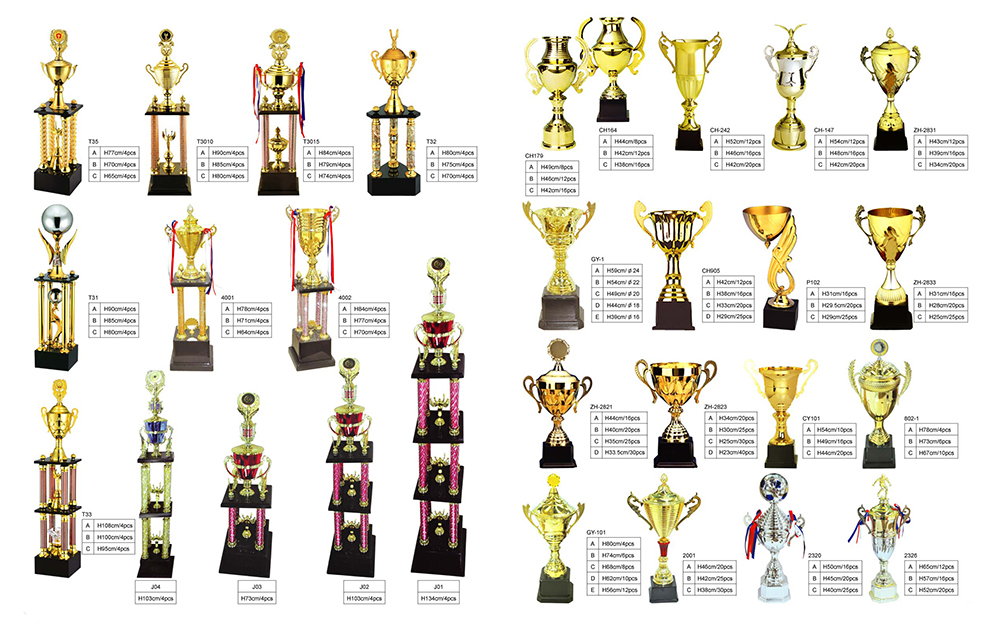 High Quality Dancing Trophy Metal Trophy Custom Award Metal Cup
