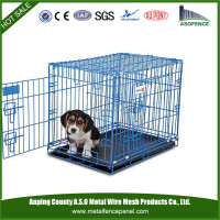 China wholesale foldable stainless steel dog cage / wire folding pet crate dog cage / folding dog cage