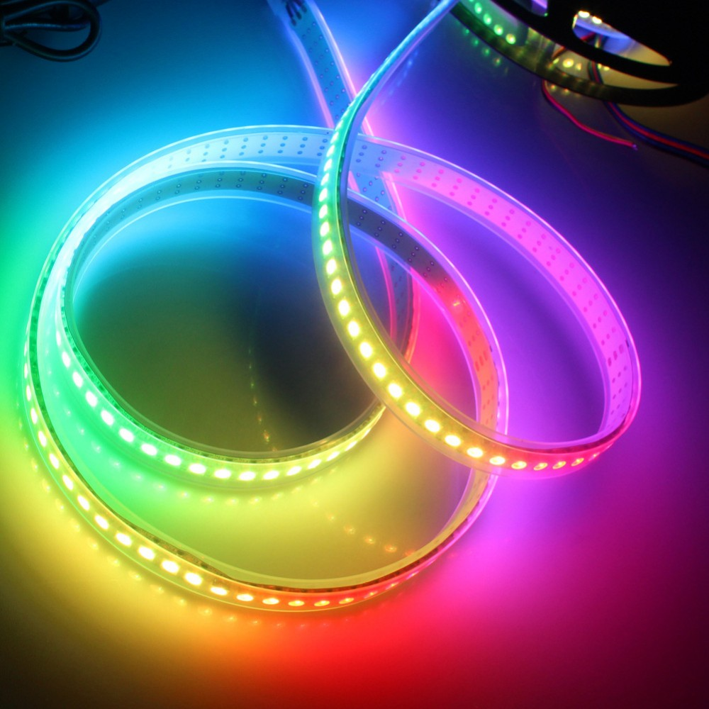 5v input 4m 60 pixel/m ws2812b ws2811 rgb led strip;addressable ws2811 built-in smd 5050 chip;digital full color;naked black pcb