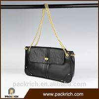 High Quality promotional black leather bags mexico with chain
