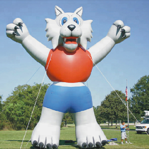 Advertising inflatable fox model inflatable animal fox character for sale