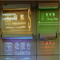 Customized laser engraving acrylic led sign