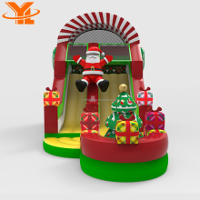 Outdoor Inflatable Christmas Slides, Christmas Franchise Inflatable Santa Gift Slide, Festival Slides for Events