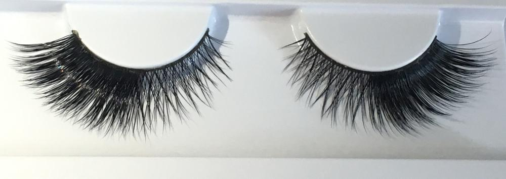 Wholesale 100% pure mink lashes with customized packaging 3D layered strip mink eyelashes
